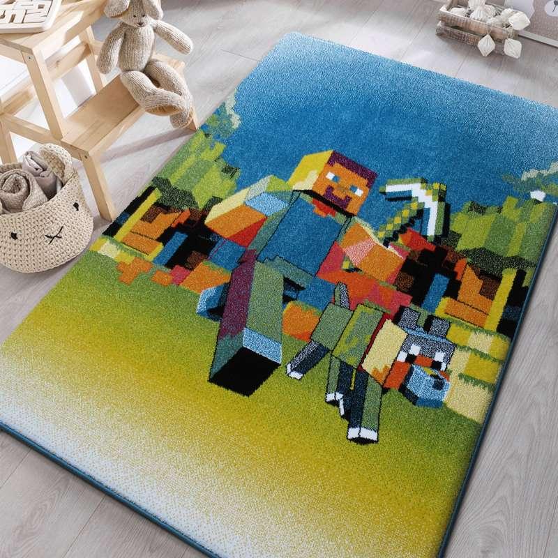Dywan dla dzieci Mondo 05 Robot - Niebieski