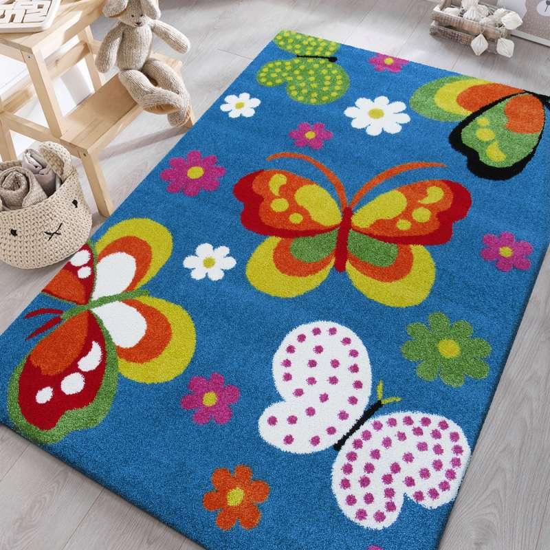 Dywan dziecięcy Mondo 14 Motyle - Niebieski