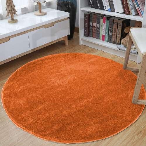 Dywan okrągły Portofino jednolity pomarańczowy