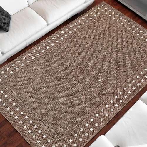 Dwustronny dywan sznurkowy Zara 11 brązowy