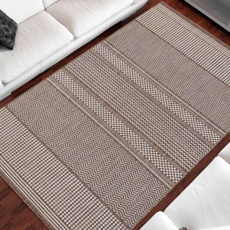 Dwustronny dywan sznurkowy Zara 12 brązowy