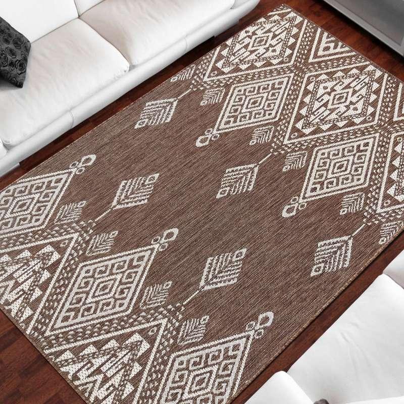 Dwustronny dywan sznurkowy Zara 13 brązowy