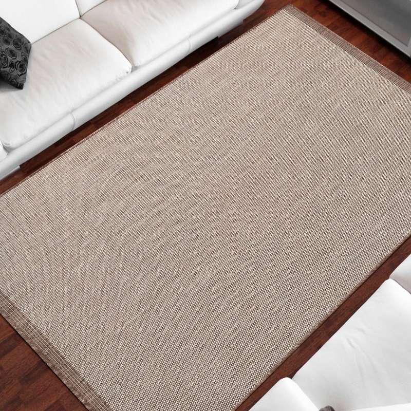 Dwustronny dywan sznurkowy Zara 14 brązowy