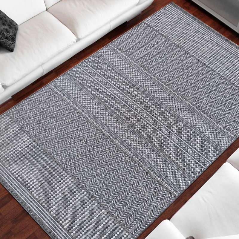 Dwustronny dywan sznurkowy Zara 11 szary