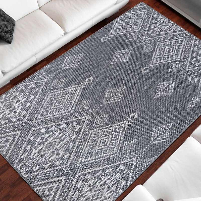 Dwustronny dywan sznurkowy Zara 13 szary