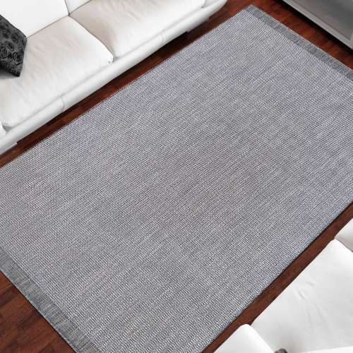 Dwustronny dywan sznurkowy Zara 14 szary