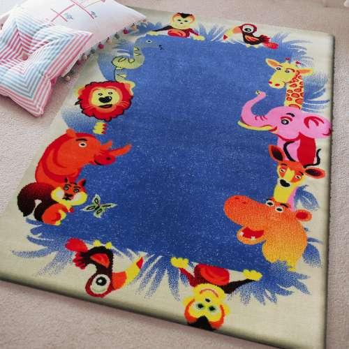 Dywan dla dziecka Kids 12 - Kremowo-Niebieski