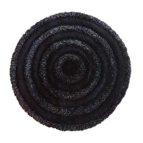 Pluszowy dywan Prestige 90 cm - czarny