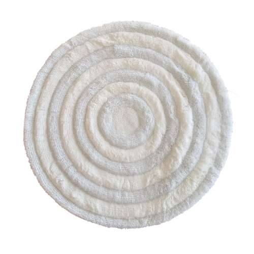 Pluszowy dywan Prestige 90 cm - biały
