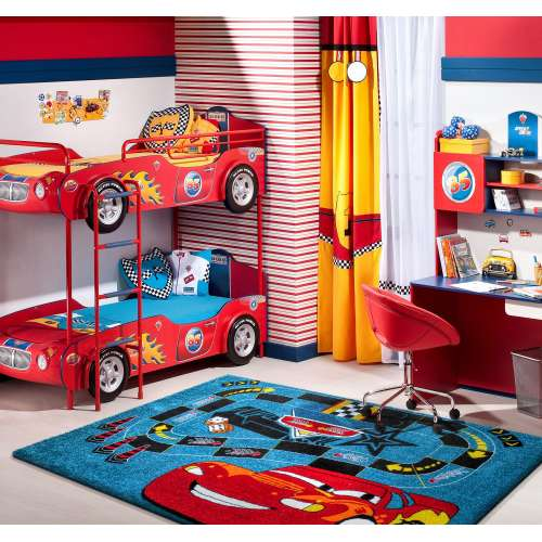 Dywan dziecięcy z atestem Mondo 06 Samochodzik - Niebieski