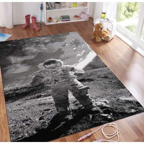 Dywan dziecięcy Soho 22 - astronauta - szary
