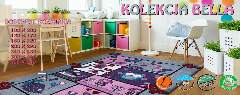 dywany dla dzieci kolekcja bella